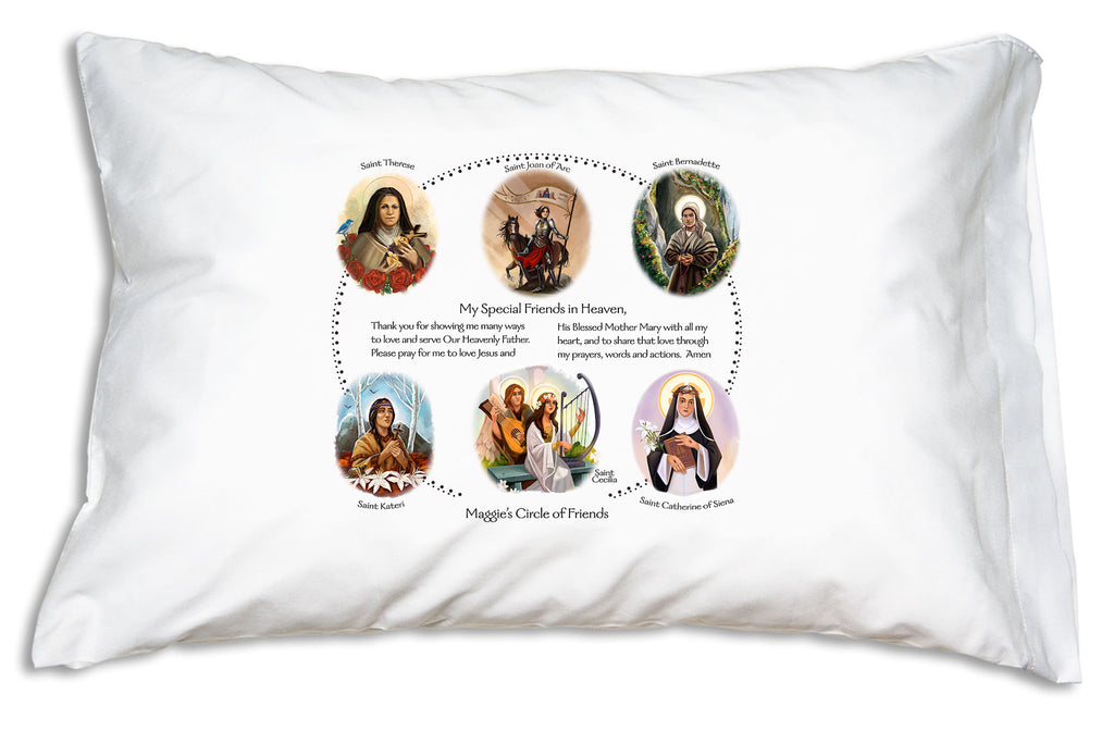 This is how we personalize our Circle of Friends Prayer PIllowcase.