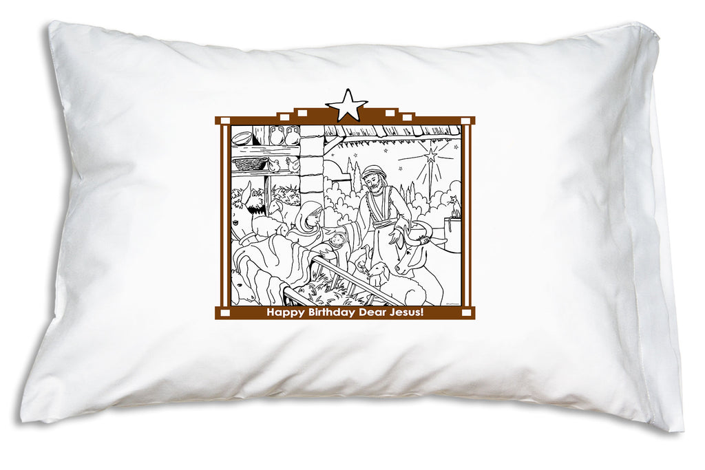 Happy Birthday Jesus Pillowcase to color and keep!