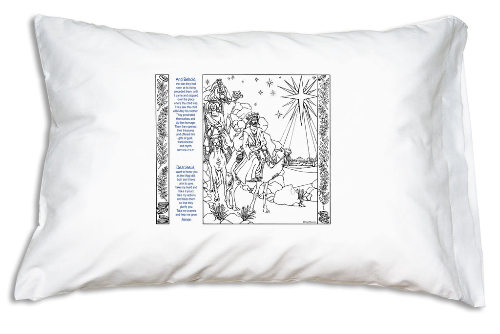 The Magi Scripture Color Me Pillowcase is a perfect activity for the Twelve Days of Christmas count-down to Epiphany!