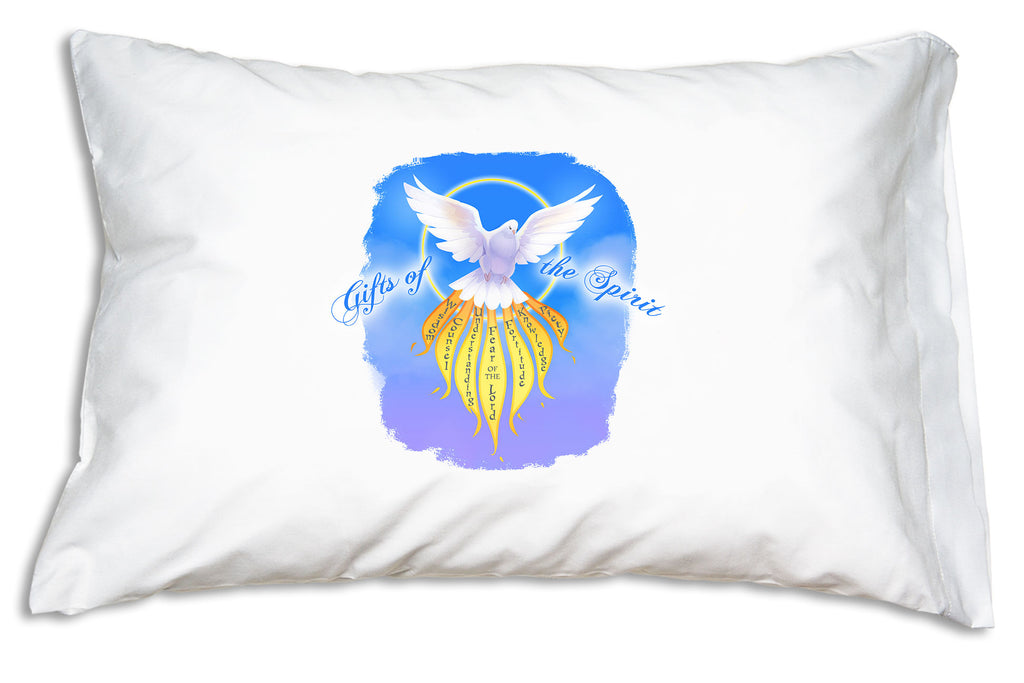 Having this Gifts of the Spirit Prayer Pillowcase nearby reminds us to use the gifts the Holy Spirit bestowed upon us.