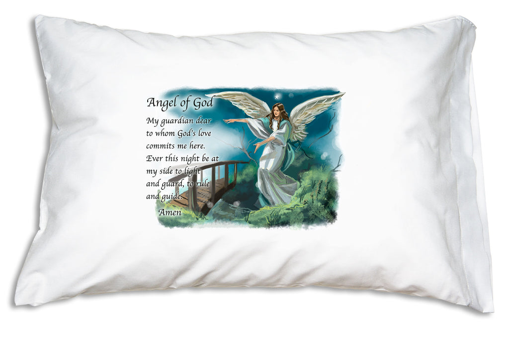 Combined with the classic Angel of God prayer, our Guardian Angel Prayer Pillowcase reminds us to both petition and praise our guardian angels.