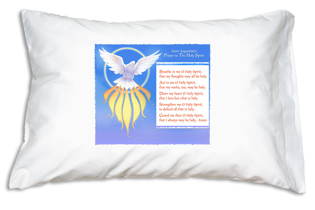 Our St. Augustine Prayer Pillowcase features this saint's heart-felt prayer to the Holy Spirit