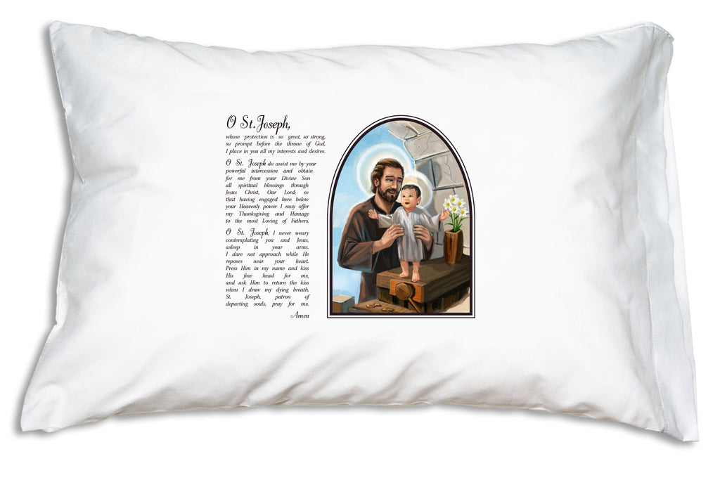 This St. Joseph Prayer Pillowcase helps you embrace The Year of St. Joseph by learning this beloved, Ancient Prayer to St. Joseph.