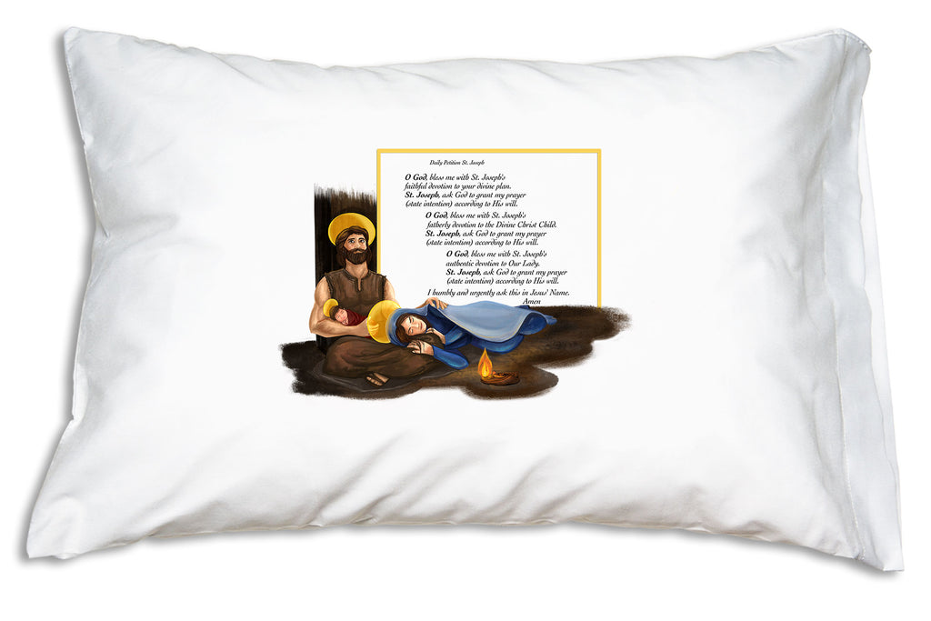 With this St. Joseph Daily Prayer of Petition Prayer Pillowcase nearby you'll remember that St. Joseph is always ready and more than willing to help.