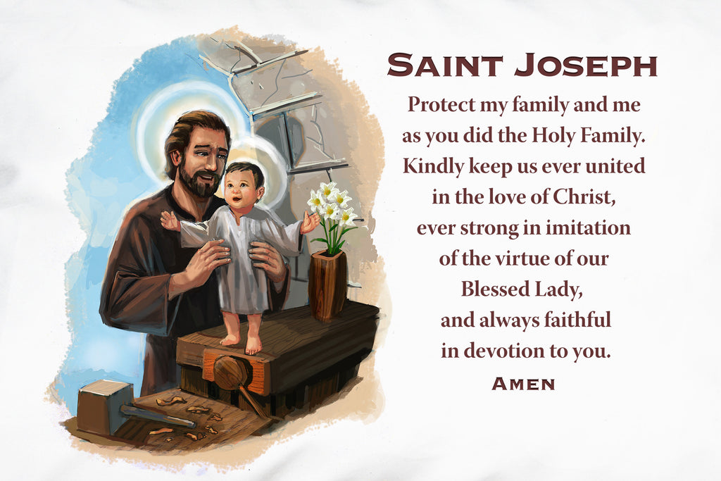 Pray for your family with this Saint Joseph Prayer Pillowcase.