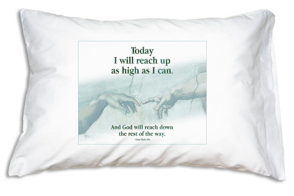 The gift of a Padre Pio's comforting quote on a comfy Prayer Pillowcase is a wonderful way to let someone know you care.