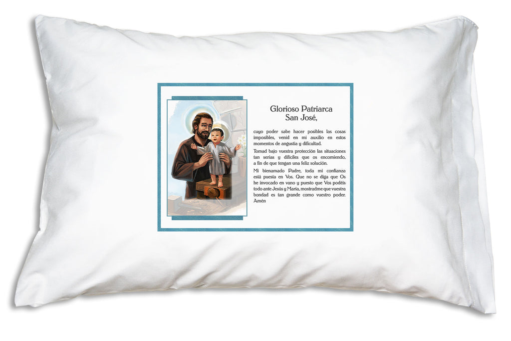 This San José Glorioso Patriarca Pillowcase shares the prayer of devotion Pope Francis has prayed to St. Joseph for over 40 years.