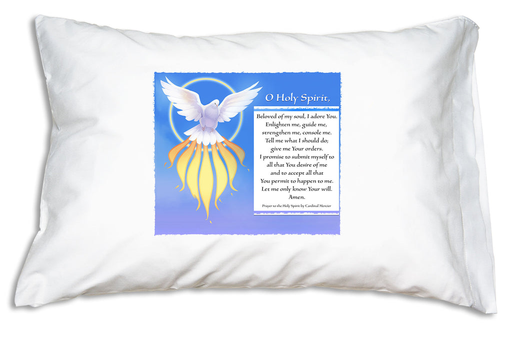 With the Holy Spirit Beloved of My Soul Prayer Pillowcase nearby you and your family can learn this beloved prayer.