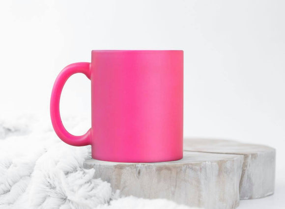 Custom Fluorescent Pink 11oz Ceramic Mug