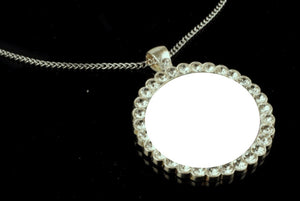 Sublimation Round Pendant Necklace