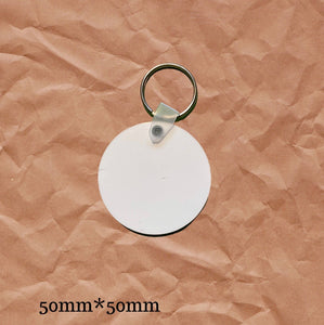 Sublimation Wholesale Round Keychain