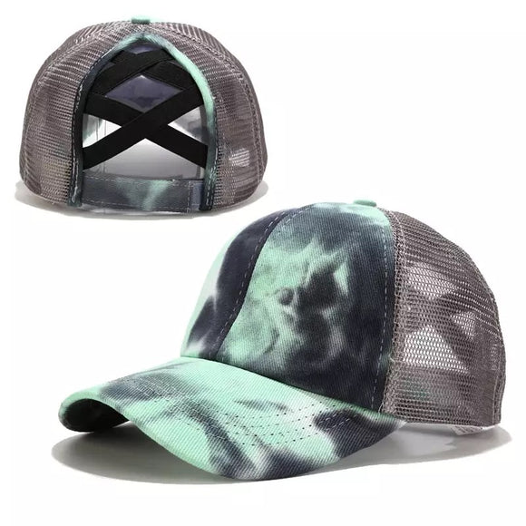 Criss Cross Ponytail Tie Dye Hats