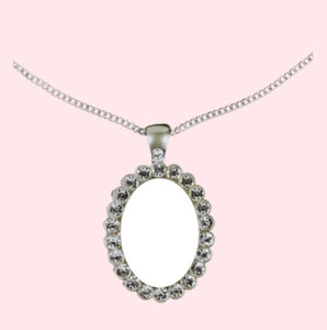 Sublimation Oval Pendant Necklace