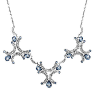 Rhodium Crystal Necklace