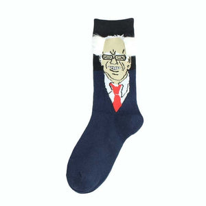 President Donald Trump Unisex Socks with 3D Fake Hair