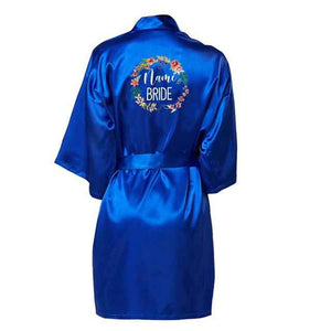 blue long sleeve nightgown