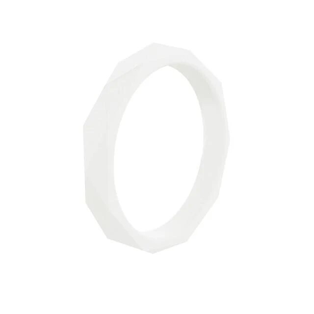 white womens silicone rings