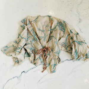 Cotton Silk Embroidered Piano Shawl Jacket