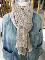 Frankie Hand Woven Linen Scarf