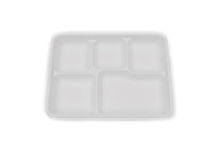 5 Compartment Sugarcane Bagasse Plate