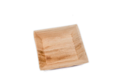 18cm x 18cm Square Palm Leaf Plate