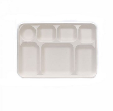7 Compartment Sugarcane Bagasse Plate