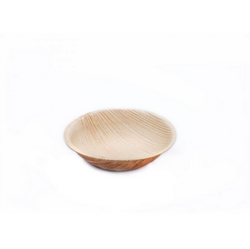 9cm Round Palm Leaf Bowl