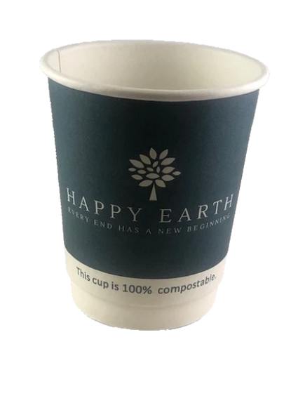 Double Wall Compostable Hot Cups 8oz
