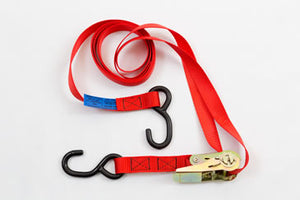 25mm ratchet strap with plastic coated s hooks