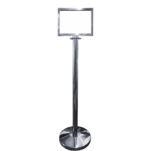 Load image into Gallery viewer, Polished Stainless Steel Post A4 Landscape Picture Frame