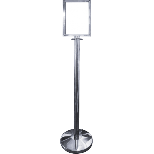 Polished Stainless Steel Post A4 Portrait Picture Frame