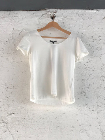 CREA BASIC SHORT SLEEVE T-SHIRT 27104 CREAM