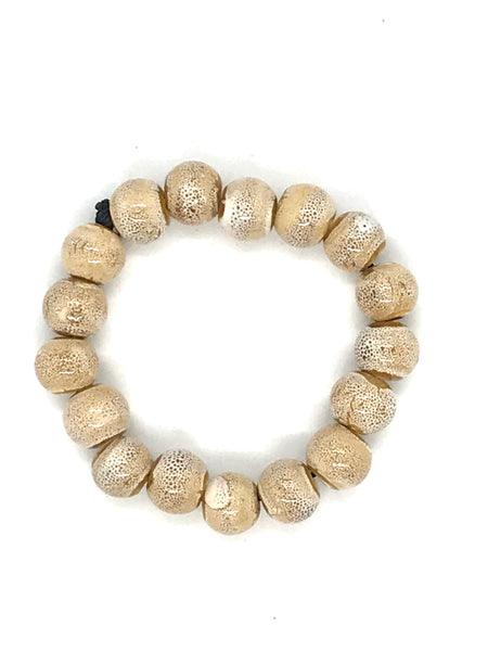 JIANHUI EGG SHAPE CERAMIC BRACELET BL1914 CREAM
