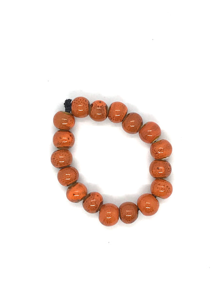 JIANHUI EGG SHAPE CERAMIC BRACELET BL1914 ORANGE