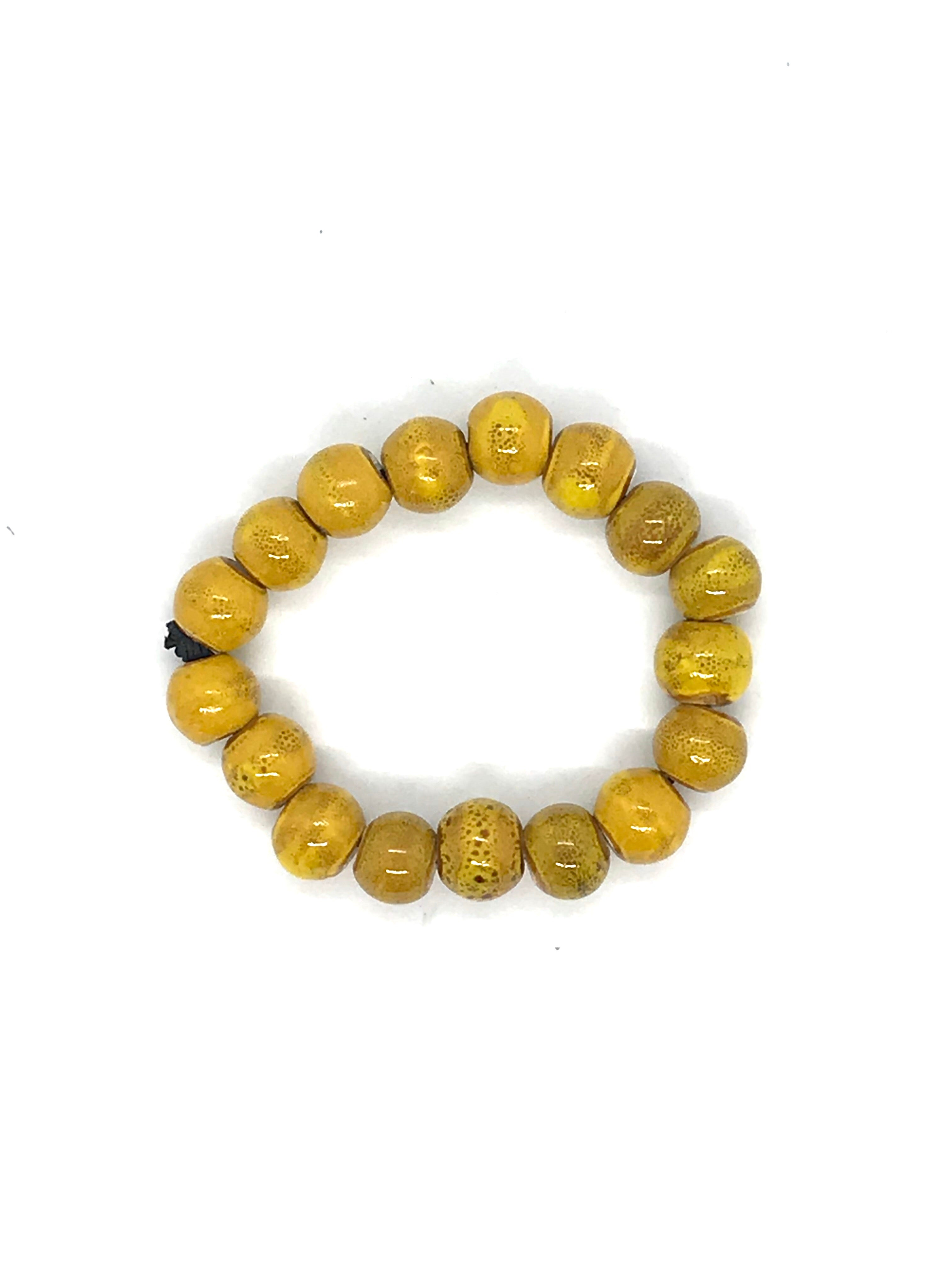 JIANHUI EGG SHAPE CERAMIC BRACELET BL1914-3 YELLOW