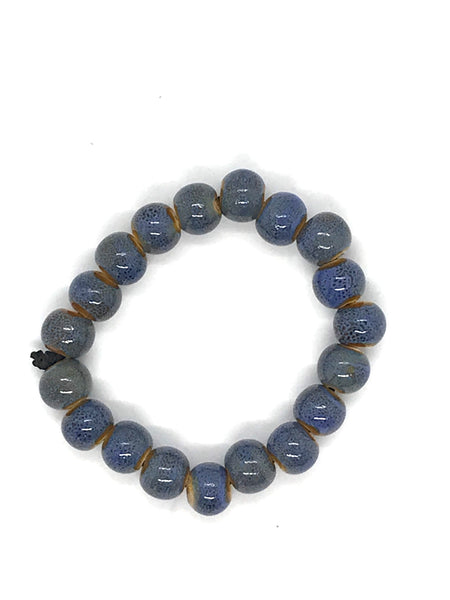 JIANHUI EGG SHAPE CERAMIC BRACELET BL1914 BLUE