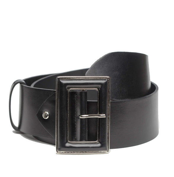TARA WIDE BLACK LEATHER BELT