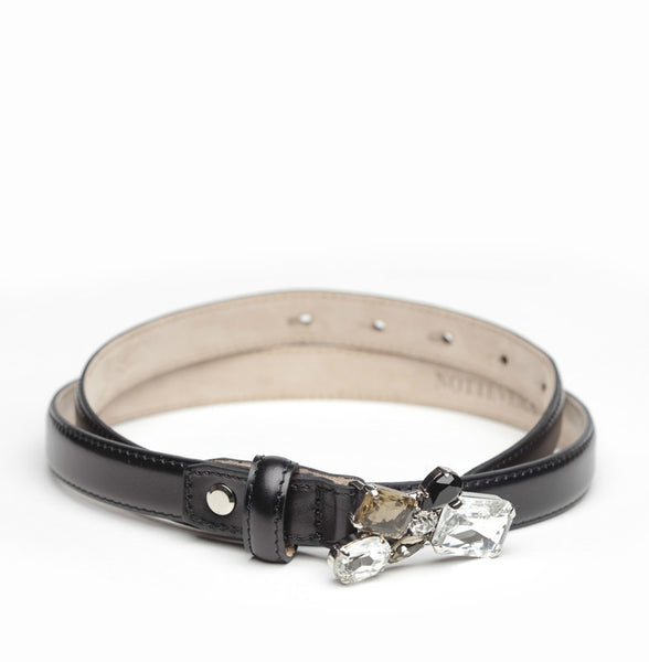 SERA SKINNY TAUPE LEATHER BELT
