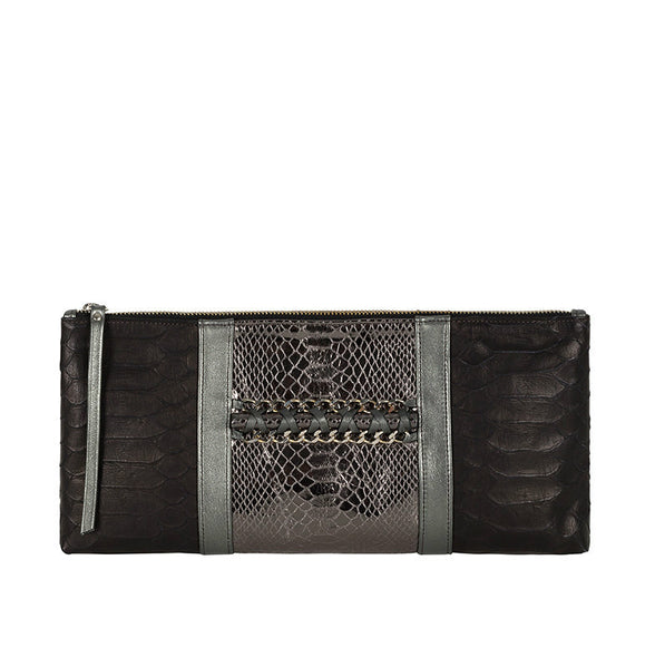 ANNA LEATHER CLUTCH