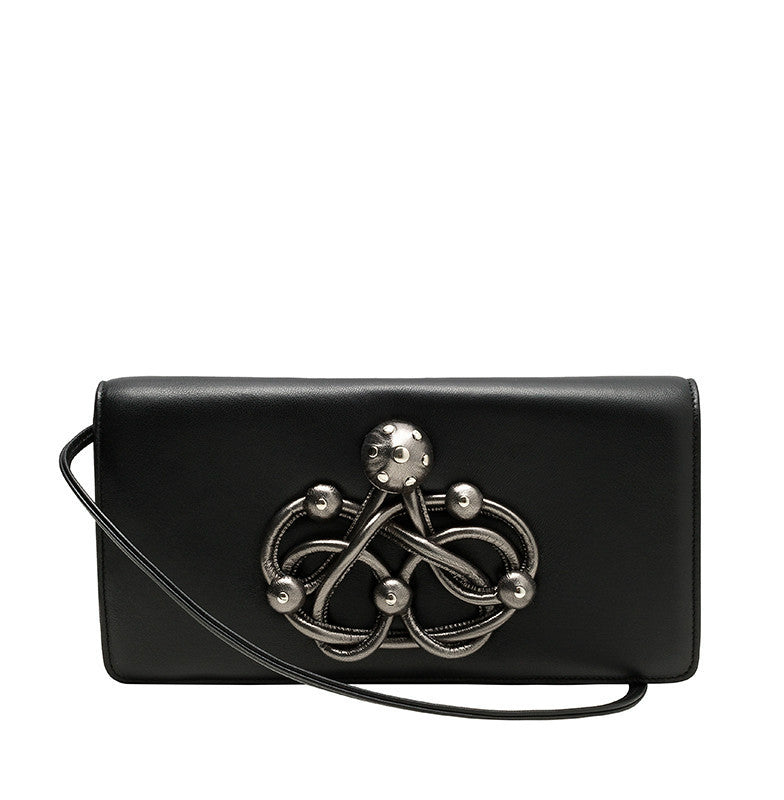 CARLA LAMBSKIN LEATHER CLUTCH - NOTTEVERA - 1