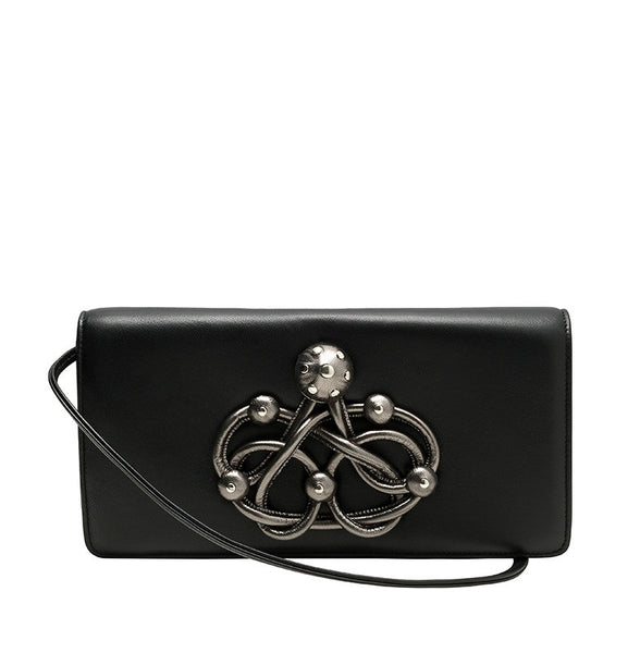CARLA LAMBSKIN LEATHER CLUTCH