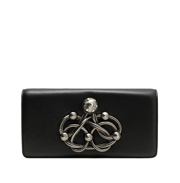CARLA LAMBSKIN LEATHER CLUTCH - NOTTEVERA - 3