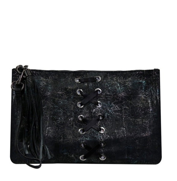 CARYN CLUTCH - DARK WASHED