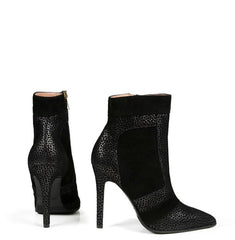 CELLA STILETTO BLACK SUEDE BOOTIE - NOTTEVERA 1