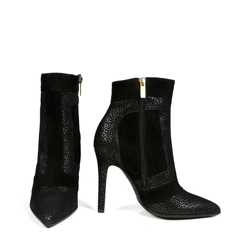 CELLA STILETTO BLACK SUEDE BOOTIE - NOTTEVERA 2