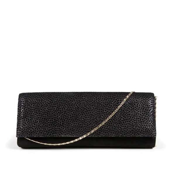 CELLA SUEDE CLUTCH