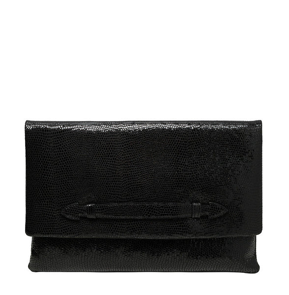 CHIARA OVERSIZED CLUTCH - BLACK