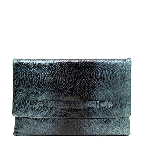 CHIARA OVERSIZED CLUTCH - BLUETTE