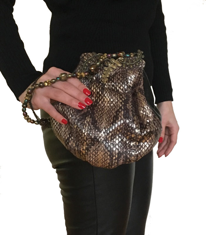 Effie Snakeskin Bucket Bag - NOTTEVERA