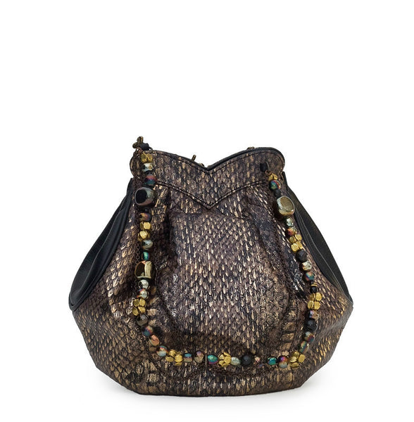EFFIE SNAKESKIN BUCKET BAG - NOTTEVERA - 2